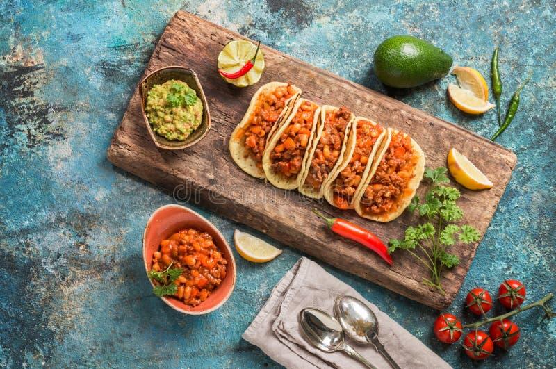 Tacos mexicain avec de la viande image libre de droits
