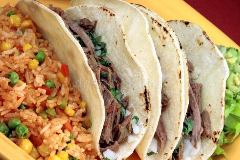 Tacos mexicano imagens de stock
