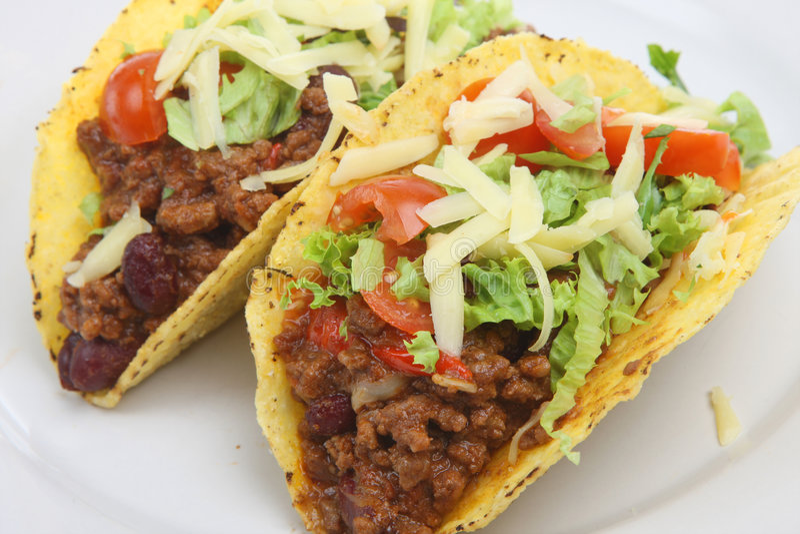 Tacos mexicano da carne dos pimentões foto de stock