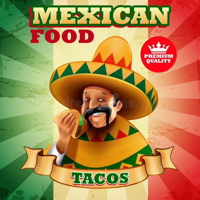 Tacos mexikanisch vektor abbildung