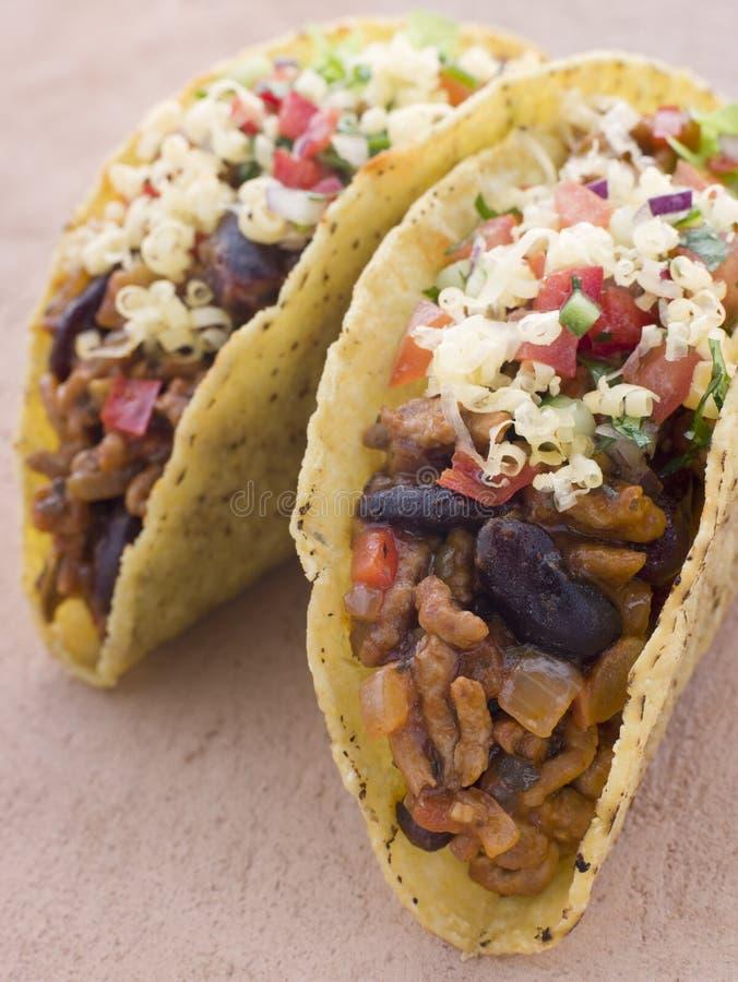 Tacos rempli photographie stock