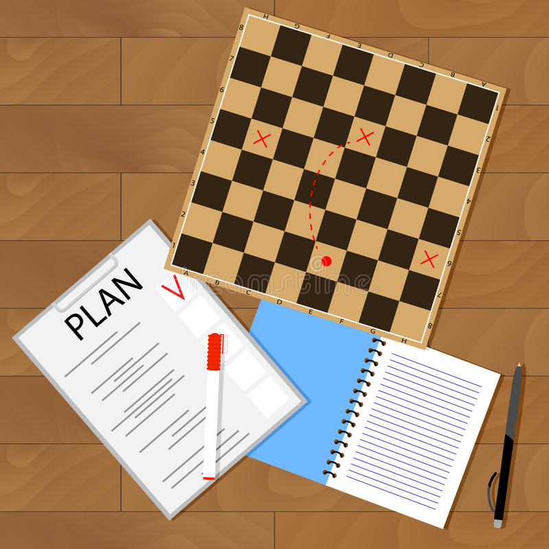 Tactic business plan royalty free illustration