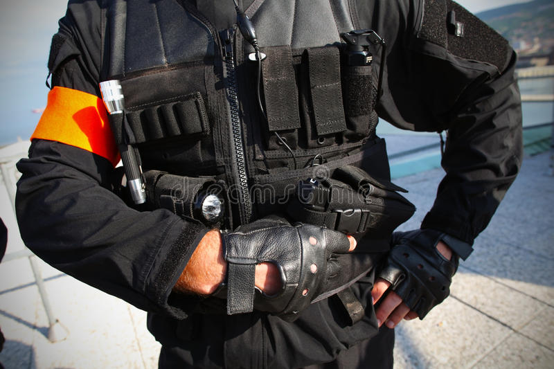 Tactical unit police agent royalty free stock photography