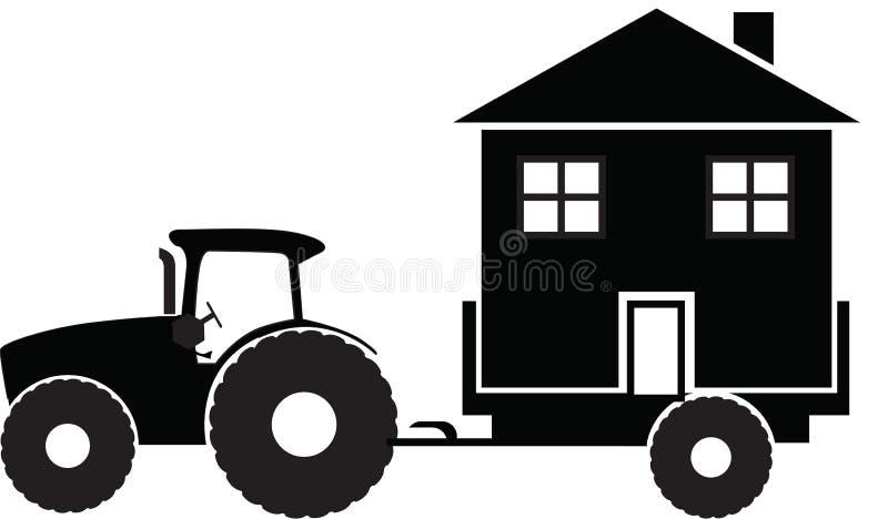 Tactor liefert das Haus lizenzfreie abbildung