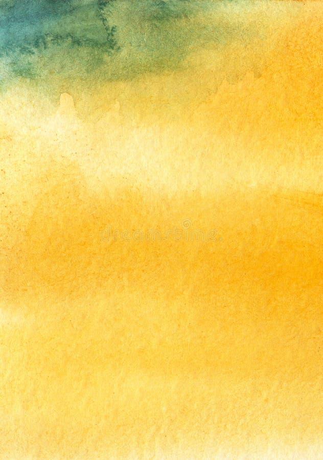 Tactvol vage abstracte waterverfachtergrond Hand getrokken kunst met document textuur stock afbeelding