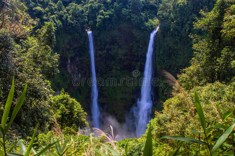 Tad Fan Waterfall. In southern Laos stock photography