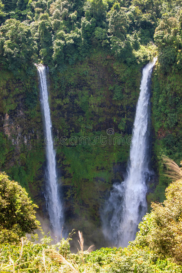 Tad Fan Waterfall. In southern Laos royalty free stock photos