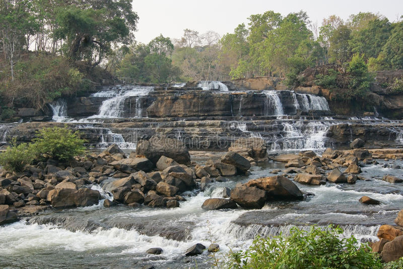 Tad Hang Waterfall, Laos, Asia. Tad Hang Waterfall, Bolaven Plateau, Laos, Asia royalty free stock image
