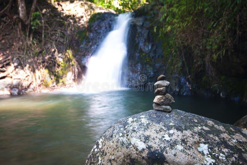 Tad kaeng nyui Waterfall II. Tad kaeng nyui Waterfall in Vang Vieng loas royalty free stock image