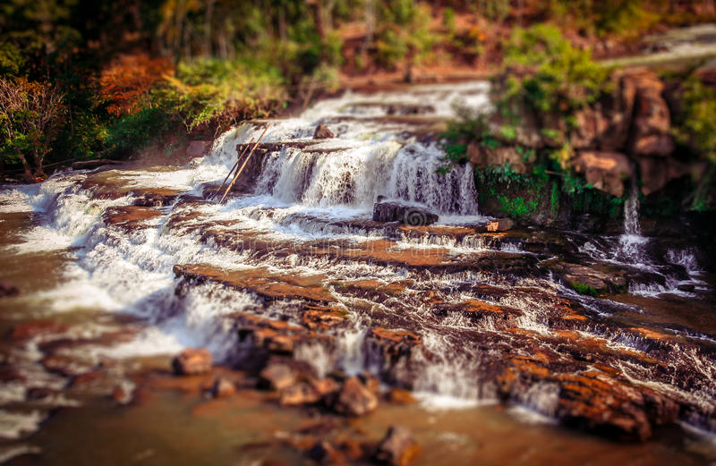 Tad Lo waterfall. Beautiful Tad Lo waterfall on the Bolaven Plateau in Laos royalty free stock images