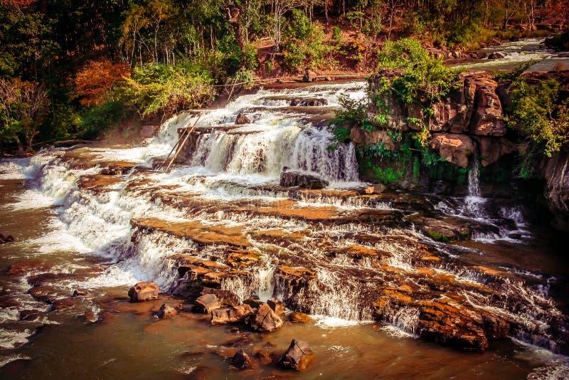 Tad Lo waterfall. Beautiful Tad Lo waterfall on the Bolaven Plateau in Laos royalty free stock image