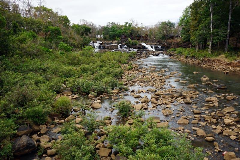 Tad Lo waterfall. In Bolasven plateu in Laos stock image