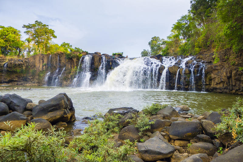 Tad Lo Waterfall Laos. Tad Lo waterfall, Bolaven Plateau, Champasak Province, Laos royalty free stock photos