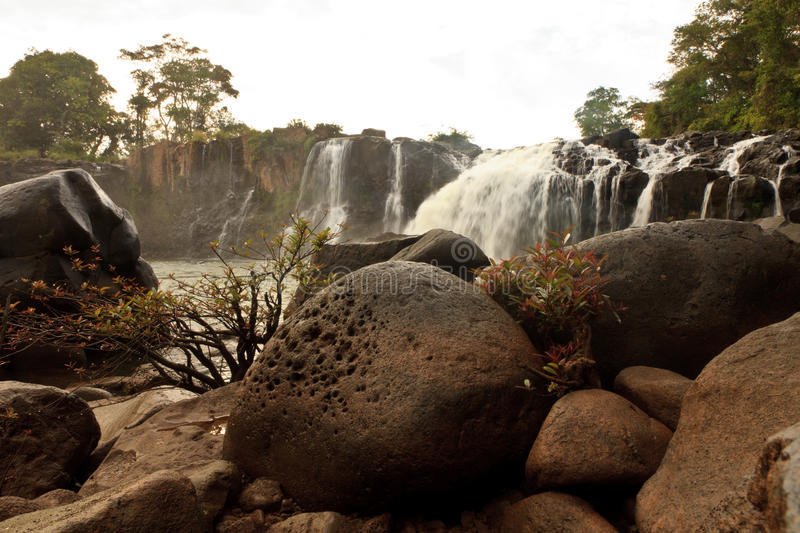 Tad Lo waterfall. Seen during the motorbike loop from Pakse stock photography