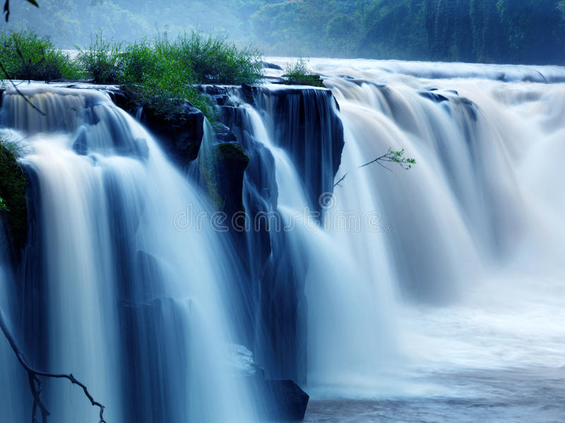 Download Tad-Pa Suam waterfall stock photo. Image of leaf, forest - 21914696
