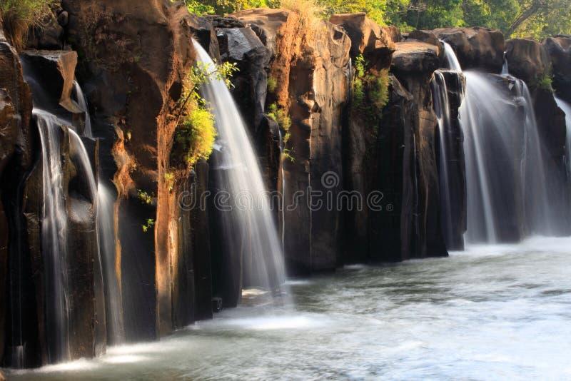 Tad Pha Suam waterfall in Paksong region, Laos. Tad Pha Suam waterfall in Laos stock image