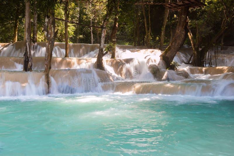 Tad Sae Waterfall, Luang Prabang. Laos royalty free stock photos