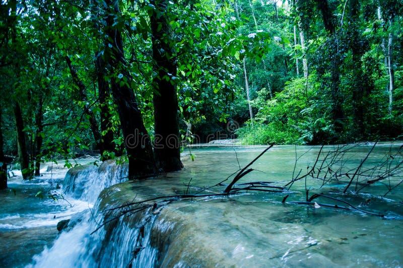 Tad Sae Waterfalls. Luang Prabang, Laos stock images