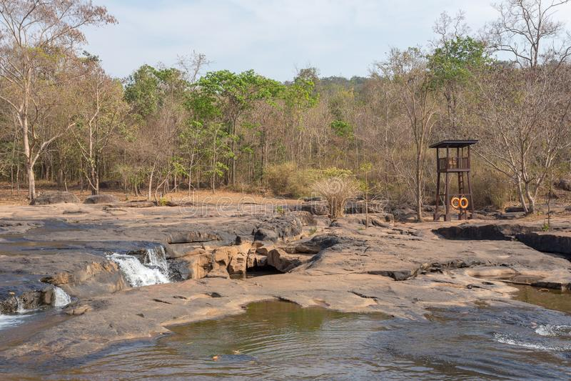 Tad Ton waterfall. At Chaiyaphum province Thailand stock photo