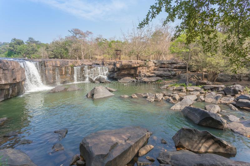 Tad Ton waterfall. At Chaiyaphum province Thailand stock photography