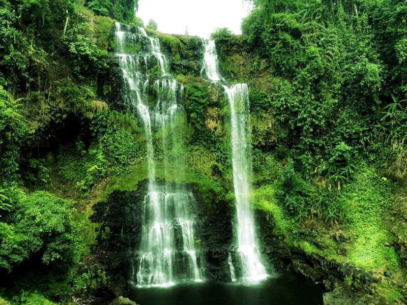 Tad Yeuang Waterfall stock images
