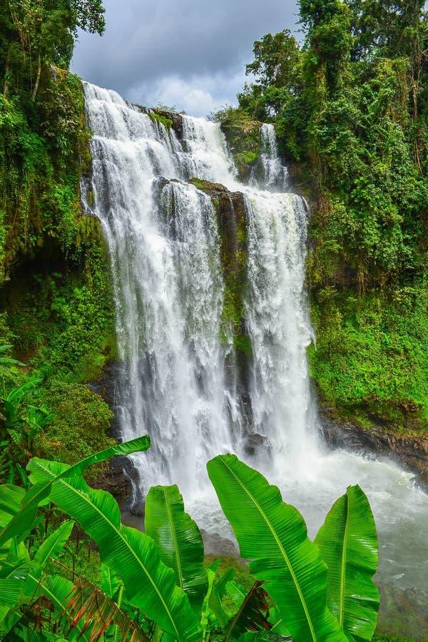 Tad Yuang a également orthographié la cascade de Tad Gneuang image libre de droits