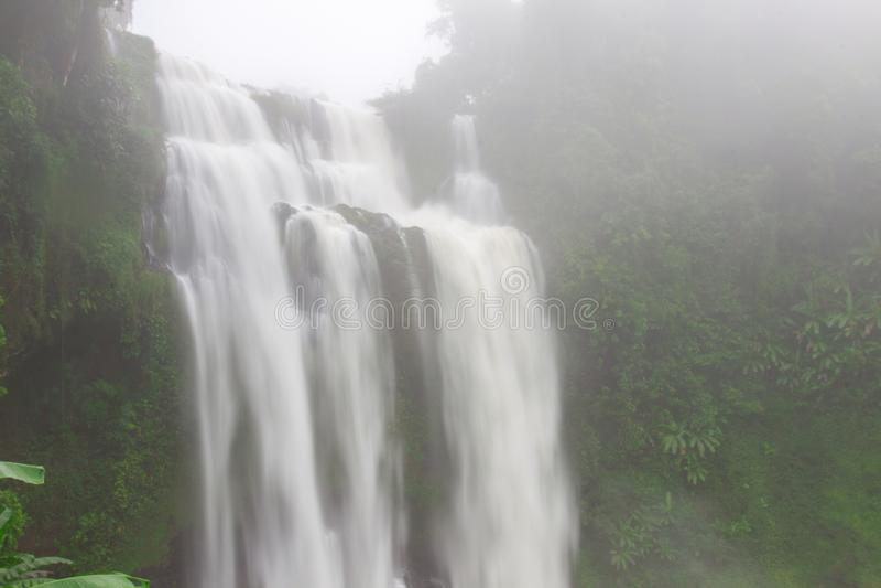 Tad Yuang Waterfall in Laos's Champasak Province , Laos.  royalty free stock images