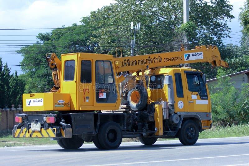 TADANO żurawia ciężarówka PPS Betonujący Firmy obraz royalty free