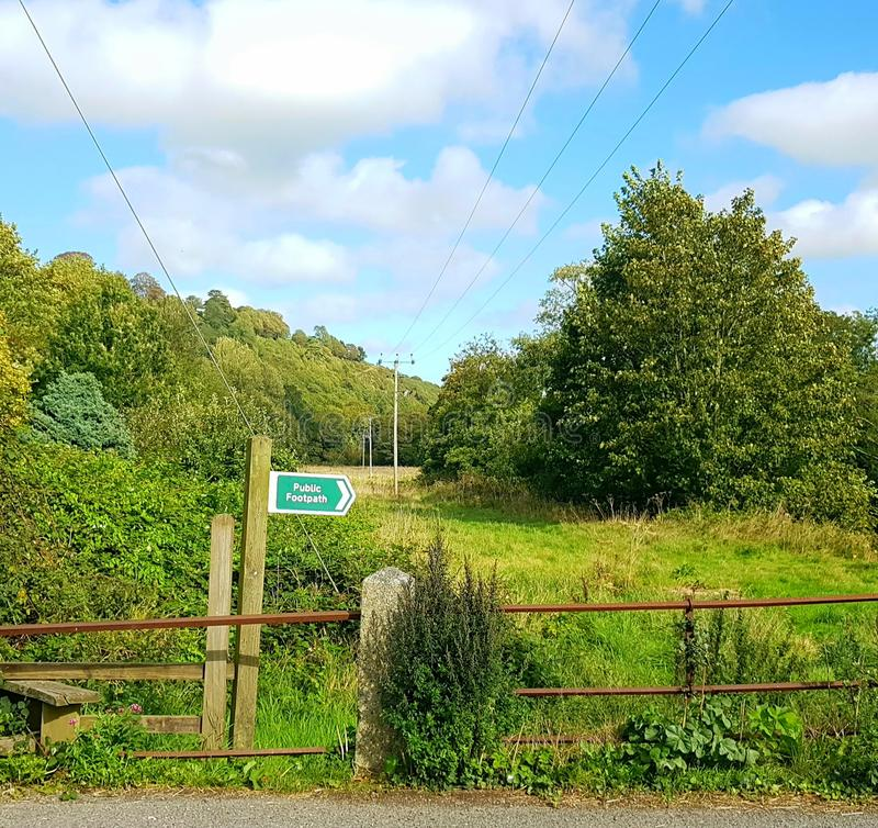 Taddiport is een hamlet in Noord Devon, Engeland royalty-vrije stock fotografie