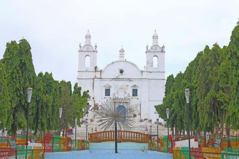 Tadellosen Kolonialart St Thomas Kirche Diu Gujarat Indien lizenzfreies stockbild
