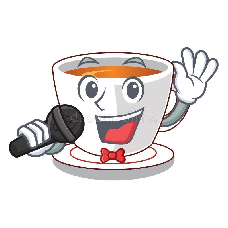 Tadelloser Tee der Gesangschale lokalisiert mit Charakter stock abbildung