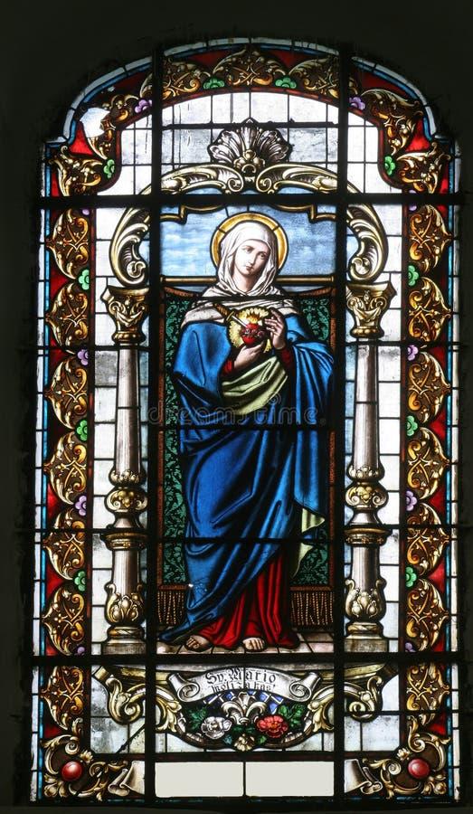 Tadelloses Herz von Jungfrau Maria stockfotos