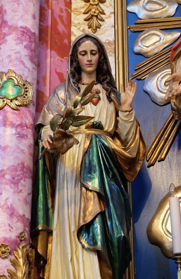 Tadelloses Inneres von Mary stockfoto