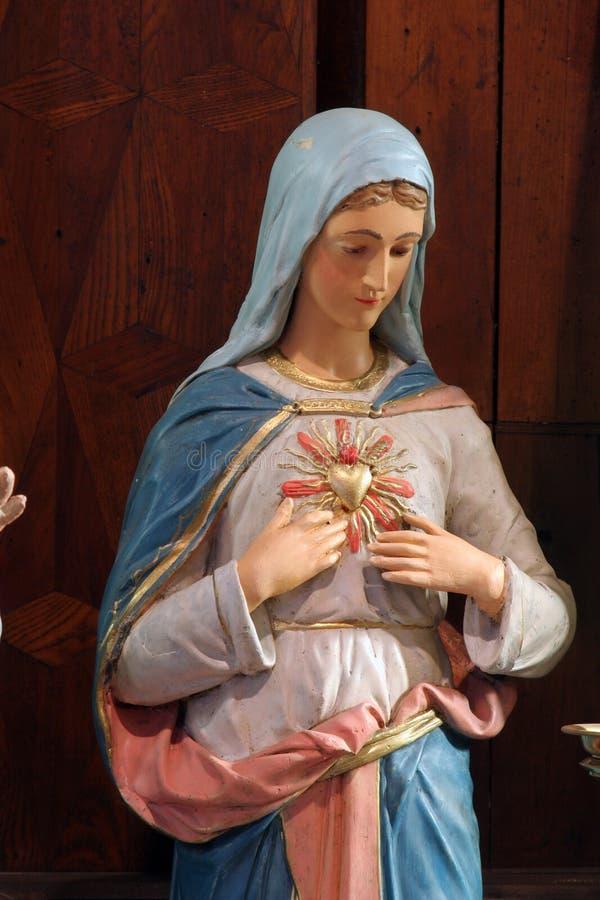 Tadelloses Inneres von Mary lizenzfreies stockfoto