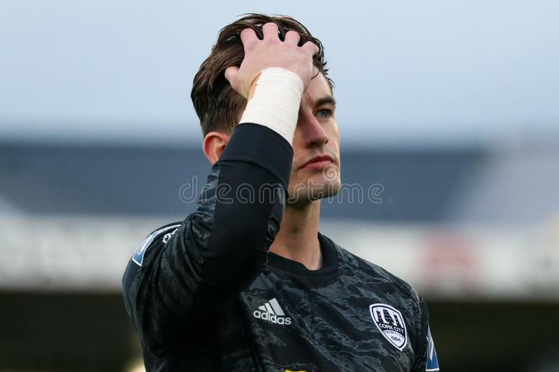 Tadgh Ryan at the League of Ireland Premier Division match: Cork City FC vs Waterford FC. September 2nd, 2019, Cork, Ireland - Tadgh Ryan at the League of royalty free stock photos