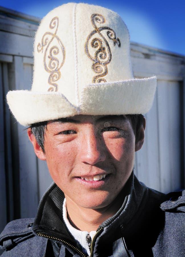 Tadjik teenaged jongen stock foto's