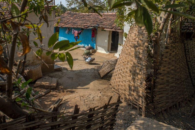 Tadoba nationaal park Chandrapur, Maharashtra van het Moharlidorp royalty-vrije stock foto