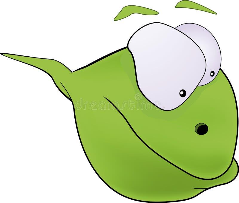 Tadpole. Amphibian animal sperm biology larva stock illustration