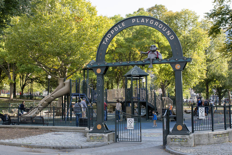 Tadpole Playground in Boston Common. Park royalty free stock image