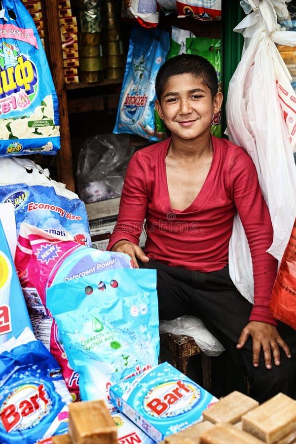 Tadschikistan: Freundliches Lächeln stockfoto