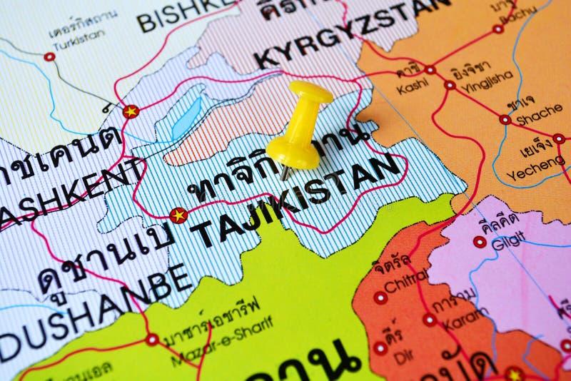Tadschikistan-Karte lizenzfreie stockfotos