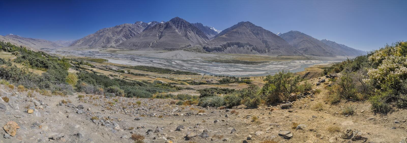 Tadschikistan-Panorama stockfoto