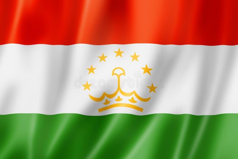 Tadzjikistan flagga stock illustrationer