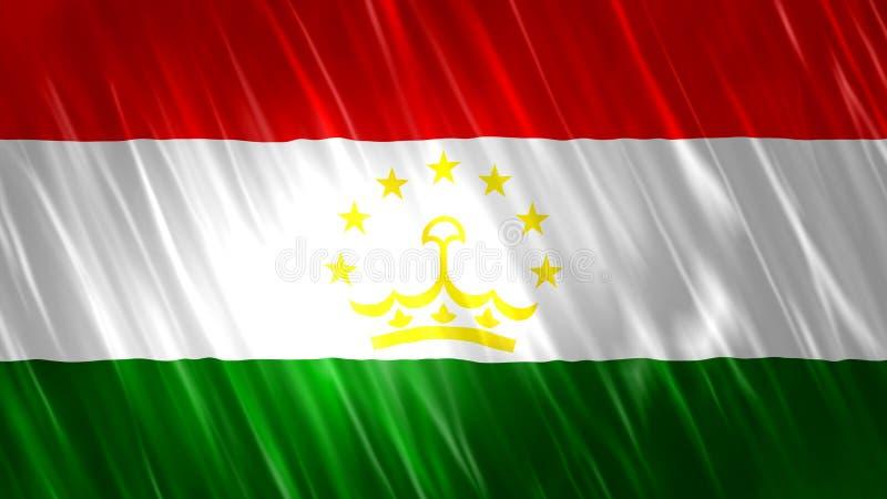 Tadzjikistan flagga royaltyfri illustrationer