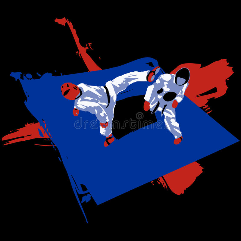 Tae Kwon Do Match vector illustratie