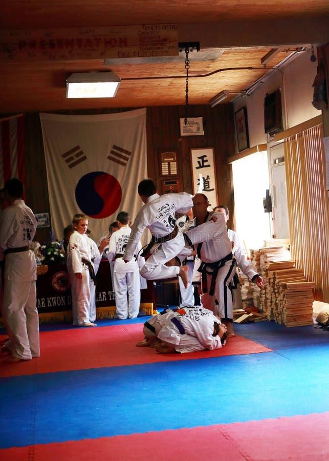 Tae Kwon Do-test stock afbeeldingen