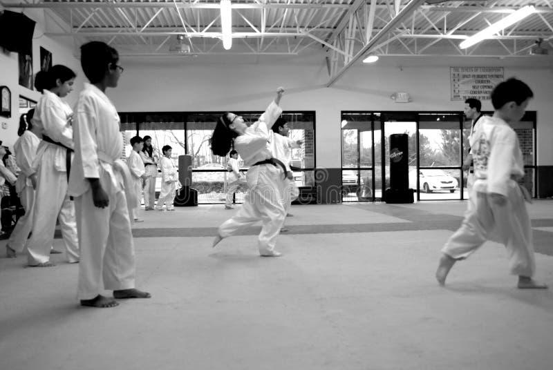 Tae Kwon tun,/koreanische Kampfkünste stockfotos