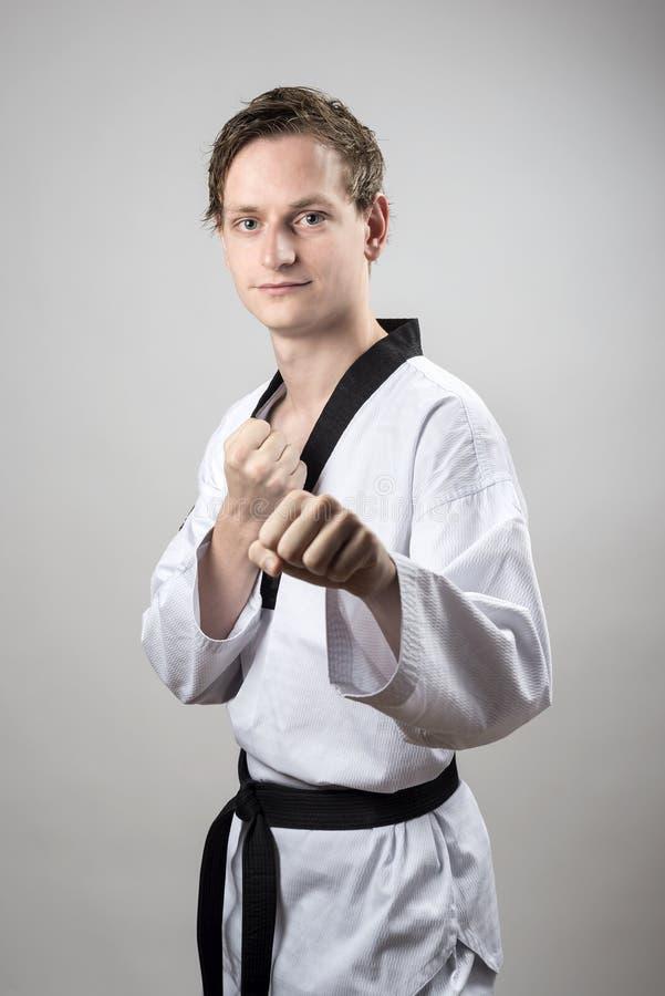 Taekwon-Faz O Campeão Do Cinturão Negro Imagens de Stock Royalty Free