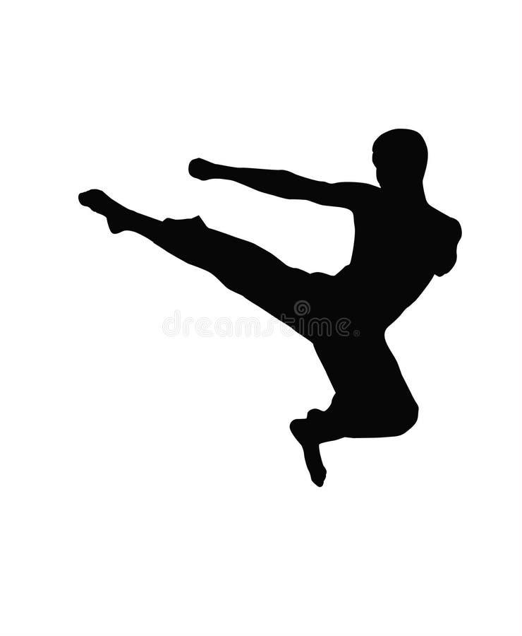 Taekwondo royalty illustrazione gratis