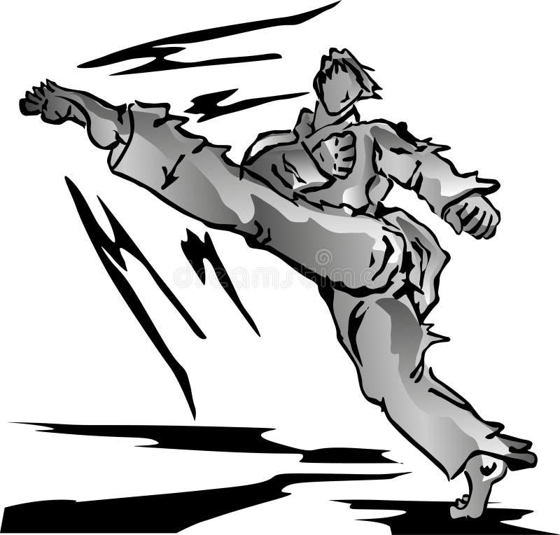 Taekwondo royalty free illustration